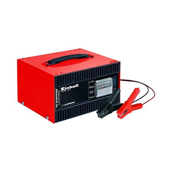 41BdmocCb3L Einhell 1050821 Batterie-Ladegerät CC-BC 10 E (12 V, für Batterien von 5-200 Ah, Ladeelektronik, Stahlblechgehäuse, inkl…
