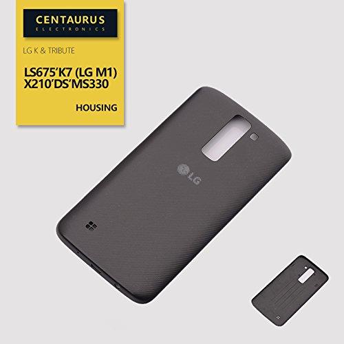For LG K Series K7 (LG M1) Tribute 5 LS675 MS330 K MetroPCS Battery Back Cover Door Black
