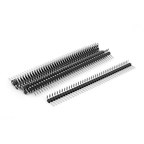 10pcs Right Angle Single Row 40-pin 2.54mm Male Header for Breadboard Angle Pins