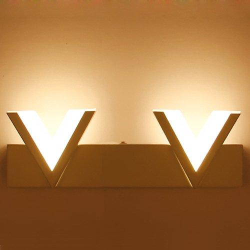 LUMINTURS 24W 4-Heads LED Wall Light Fixture Bronze Mirror Front Lamp Acrylic Bathroom Warm White