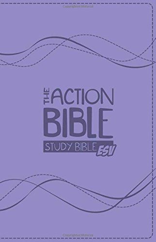 The Action Bible Study Bible ESV (Lavender) from David C Cook