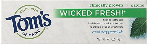 Tom's of Maine Wicked Fresh Paste, Cool Peppermint, 4.7 Ounce, 2 Count