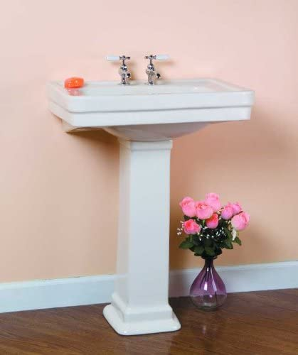 Barclay Products Sussex 550 Pedestal Sink 4 inch center faucet holes