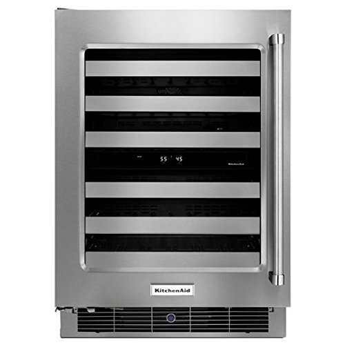 KitchenAid® 24'' Wine Cellar with Glass Door and Metal-Front Racks by Whirlpool