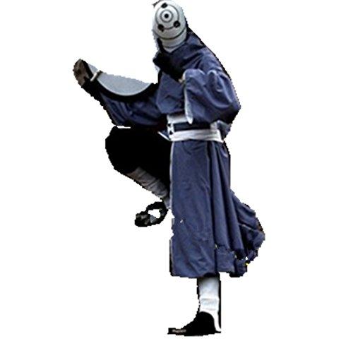 Tobi Akatsuki Costume (NARUTO Akatsuki Ninja Tobi Obito Madara Uchiha cosplay costume Helmet cosplay costume Full Set)