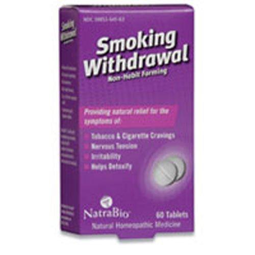 (Natra Bio Smoking Withdrawal Tablet - 60 per pack - 6 packs per case.)