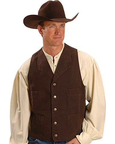 Walnut Western (Scully Rangewear by Men's Rangewear Walnut Frontier Vest Walnut XXX-Large)
