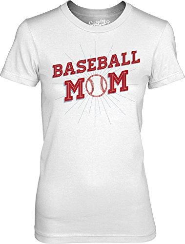 Crazy Dog TShirts - Womens Baseball Mom Tshirt Cool Sport Homerun Little League T shirt for Ladies - Camiseta Para Mujer