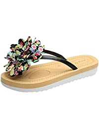 Spring and Summer Women's Slippers Casual Flat Flower Flip-Flops Fashion Ladies' Shoes
