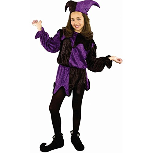 Jester Hats For Sale (Child's Purple & Black Jester Costume (Size: Small 6-8))