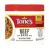 Tone's Reduced Sodium Stock Base, No MSG, Gluten Free (16 oz jar) (Beef)