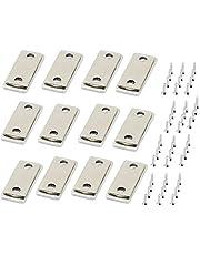 Guador Magnetische deurvangst 12 Pack Sterke vergrendelingen Heavy Duty Hardware Kastmagneet Ultra Dunne Multipurpose met schroefmagneet vergrendelingen voor keuken garderobe magneet deur dichter kast deur sluiting