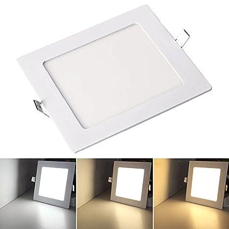 Vingo® LED Panel Lámpara de techo cristal 3 variaciones Foco ...