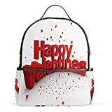 Happy Valentine Backpack Womens Laptop Daypack School Hiking Mens Travel Bags