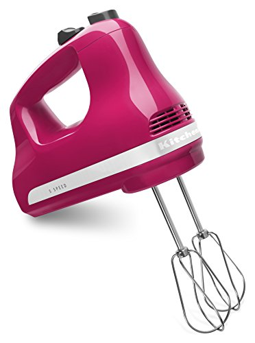 KitchenAid KHM512CB 5-Speed Hand Mixer, Cranberry