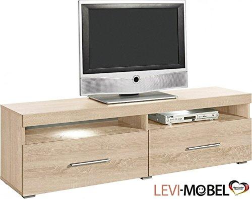 Moebelaktionsshop24 TV-LOWBOARD Wohnzimmer WOHNWAND ANBAUWAND Eiche S/ÄGERAU MATT NEU 285375