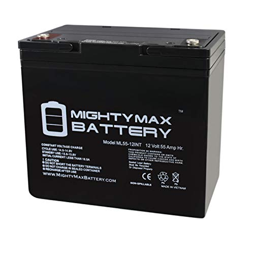Mighty Max Battery 12V 55AH INT Battery Replacement for Fortress Scooters Winner 3 Wheel Brand Product (Fortress Scooters)