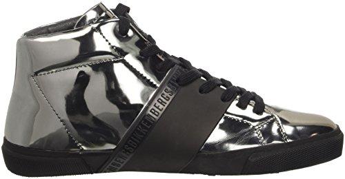 Bikkembergs Rubb-Er 752 Mid Shoe M Lame, Scarpe a Collo Alto Donna Grigio (Matte Gun/Black)