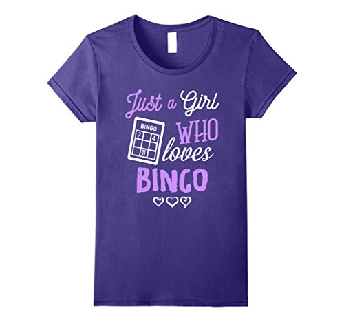 ut I Love Bingo Funny Girl Gift T-Shirt Large Purple (Bingo Rocks)