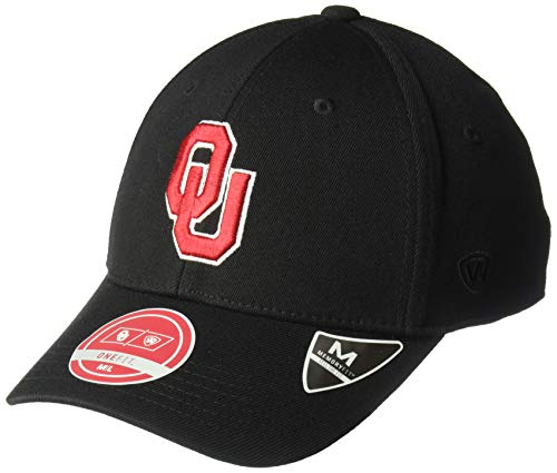 - Top of the World Oklahoma Sooners Men's Memory Fit Hat Icon, Black, One Fit