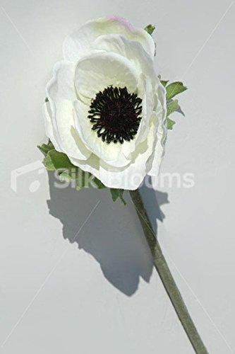 Amazon single artificial white anemone silk white anemone single artificial white anemone silk white anemone poppy mightylinksfo