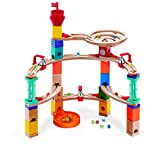 Hape Castle Escape - Quadrilla Wooden Marble Run Blocks - STEM Learning, Building & Development Construction Toy - Counting, Color & Problem Solving for Ages 4+, 101Piece, Multi Color (E6019)