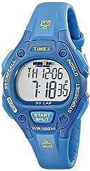 Timex Women's T5K7579J Ironman Traditional 30-Lap Teal Resin Strap Watch