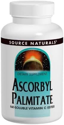 Source Naturals Ascorbyl Palmitate 500mg Powder - Fat-Soluble Vitamin C Ester Supplement - 2 Powder