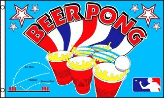 Beer Pong 3x5 ft Polyester Flag