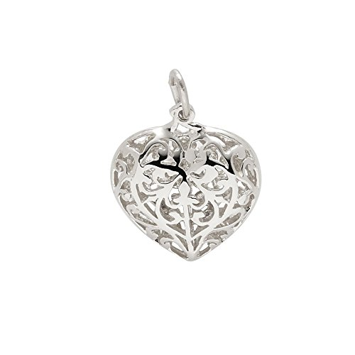 Sterling Silver Filigree Brooch (Rembrandt Charms, Filigree Heart, .925 Sterling Silver)