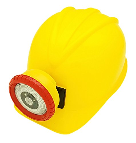 Verisea YELLOW Explorer Miner Helmet with Bright, Directional LED Lights (batteries included) | Fully Adjustable Toy Hard Hats for Any Age, Available in 6 Vivid Colors