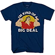 Disney Mens Beauty and The Beast Gaston Big Deal Disneyland World Tee Funny Humor Pun Adult Graphic T-Shirt Apparel