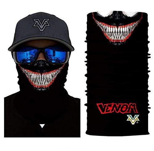 3D Mr. Venom Face Tube Neck Face Scarf