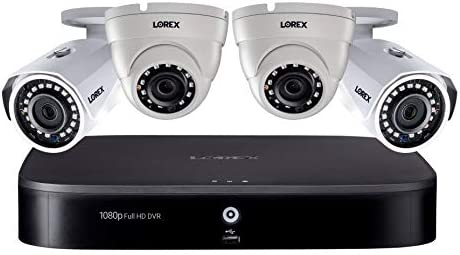 Lorex 1080p HD Weatherproof Indoor Outdoor Wired Home Surveillance Security Camera System