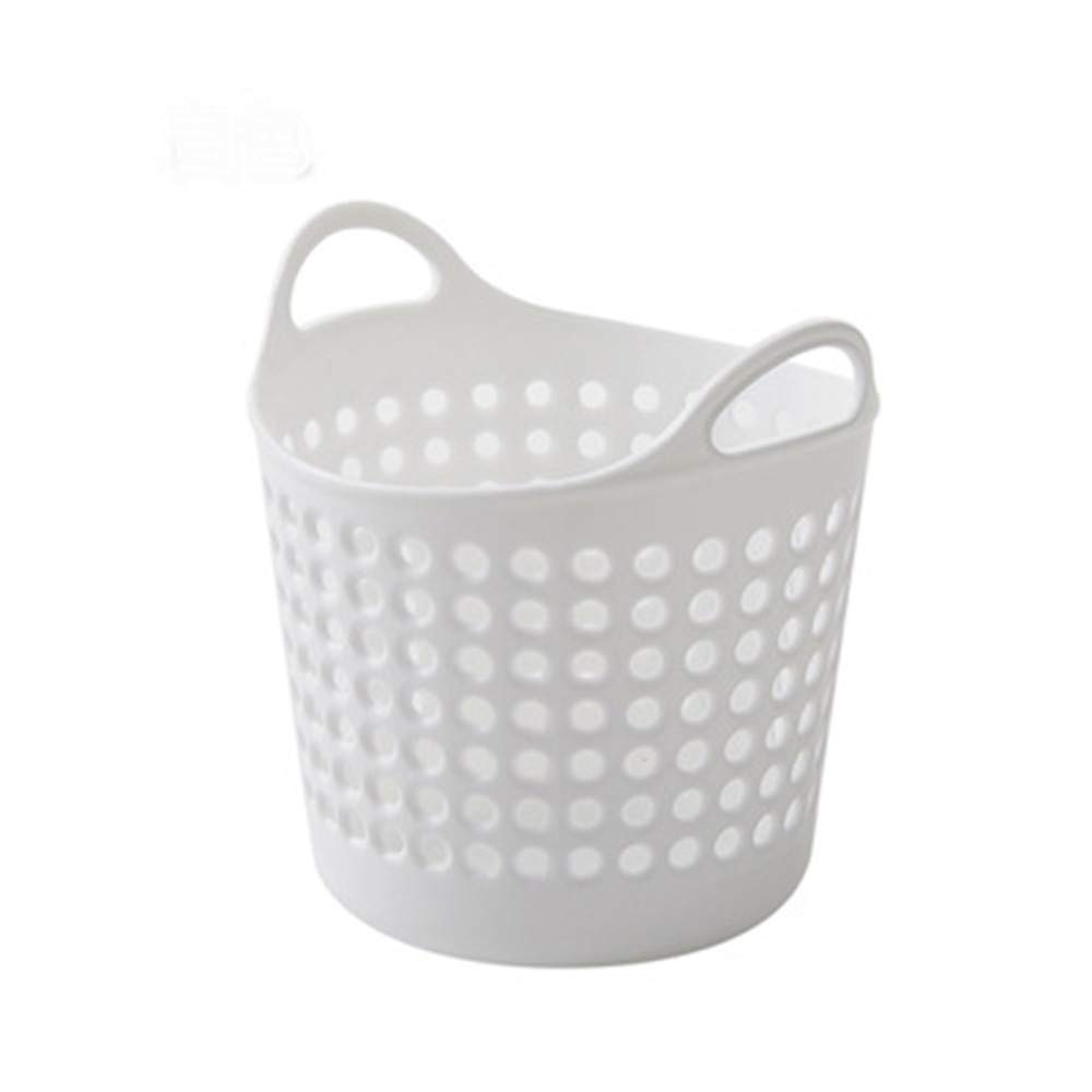 FarJing Mini Creative Fashion Desktop Storage Basket Hollow Simple Organizer Box Storage Basket(White