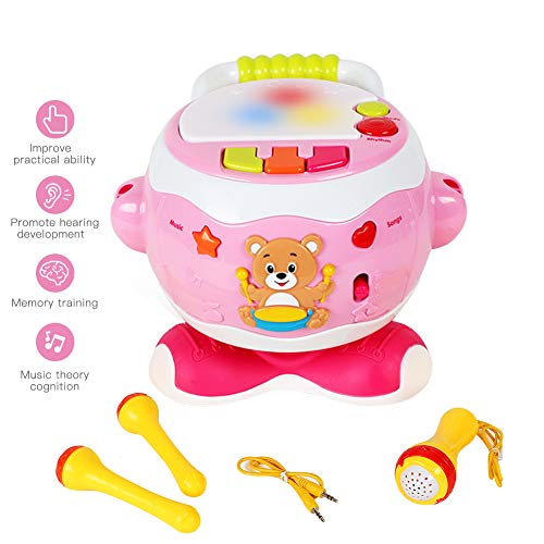YGJT Baby Music Activity Cube Play Center, Kids Musical Singing Sensory Drum Toys, Electronic Toys Lights & Sounds, Early Educational Development Gift for 1, 2, 3 Year,Infants,Toddlers
