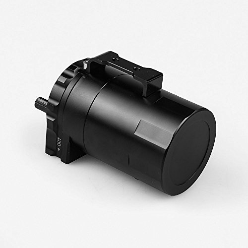 Ruien Aluminum Blaack Oil Catch Can Reservoir Tank Oil Tank Universal With Air Filter And AN6 AN8 Adapters by Ruien (Image #4)