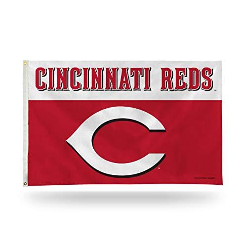 MLB Cincinnati Reds 3-Foot by 5-Foot Banner Flag