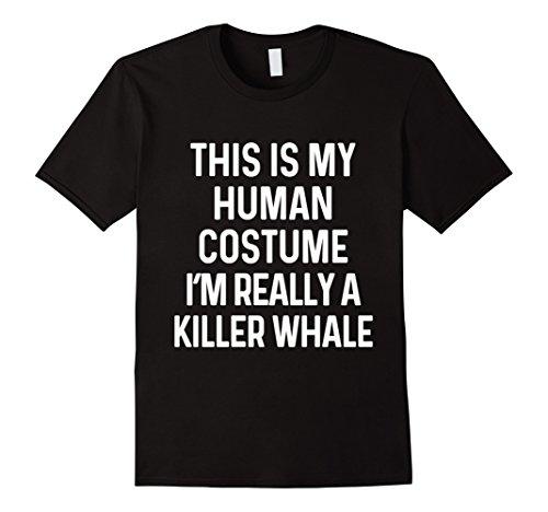 Killer Whale Halloween Costumes (Mens Funny Killer Whale Costume Shirt Halloween Adults Kids Small Black)