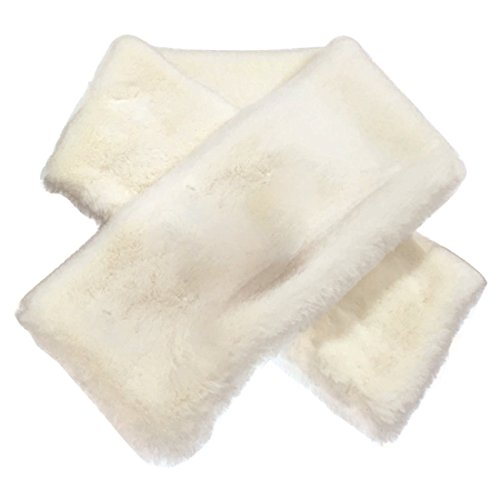 HUAYI Women's Winter Warm Faux Rabbit Fur Solid Color Thick Wrap Scarf from HUAYI