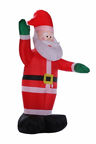 Homegear ft christmas inflatable santa claus import it all