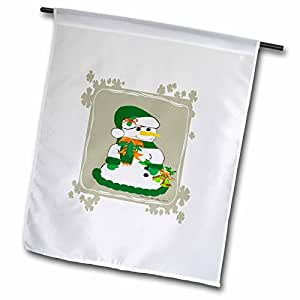 SmudgeArt All Things Christmas - Snowman With Gray Boarder - 18 x 27 inch Garden Flag (fl_6518_2)