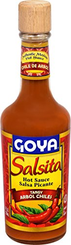 Goya Foods Salsita Hot Sauce, Tangy Arbol Chiles, 8 Ounce (Pack of 12)