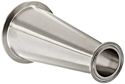 Dixon B3114MP-R300150 Stainless Steel 316L Sanitary Fitting, Clamp Concentric Red Fiberglassucer, 3\