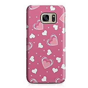 Samsung S7 Edge Case Heart Love Pattern Pattern Durable Metal Inforced Light Weight Samsung S7 Edge Cover Wrap Around 105