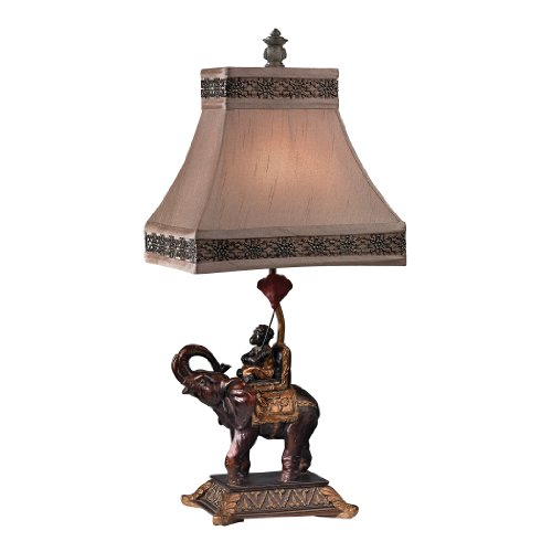 - Dimond Lighting D2476 Alan Brook Monkey on Elephant Accent Lamp, 11.0
