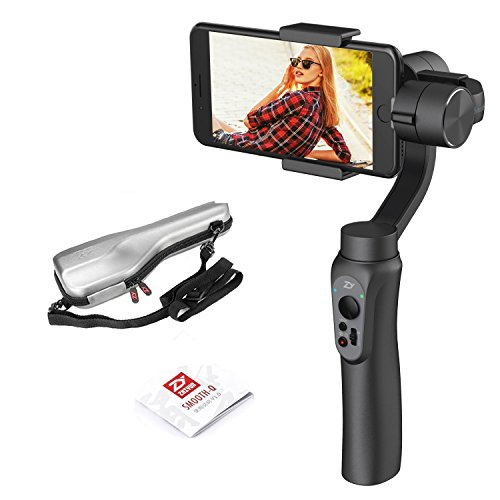 Zhiyun Smooth 4 3-Axis Handheld Gimbal Stabilizer for Smartphones Like iPhone X 8 7 Plus 6 Plus Samsung Galaxy S8+ S8 S7 S6 S5 Compatible with GoPro Intelligent APP Controls + Built in Phone Charging