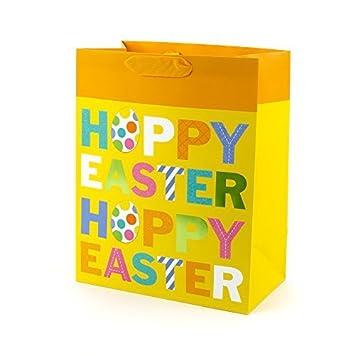 Amazon hallmark large easter gift bag hoppy easter hallmark large easter gift bag hoppy easter negle Image collections