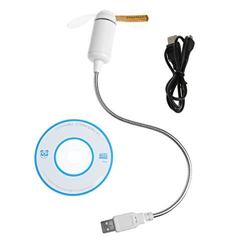 Doober Flexible Colorful LED Light Mini USB Fan DIY Program Cooling for Notebook Laptop ()
