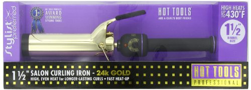 Hot Tools Professional 1102 Curling Iron with Multi-Heat Control, Big Bumper 1-1/2""